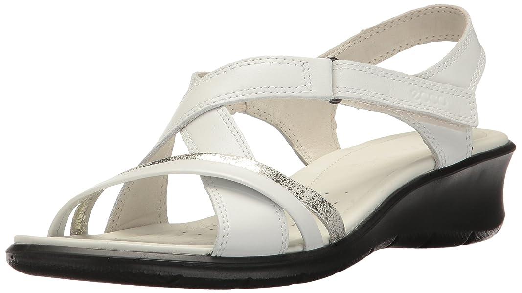 ecco  'est felicia wedge sandale, sandale, wedge blanc / gravier, ue / 5311e3