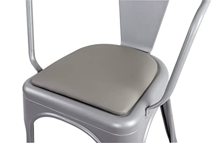 GIA Chair Cushion(1 PACK)   Gray Faux Leather  Match Tolix Style Metal
