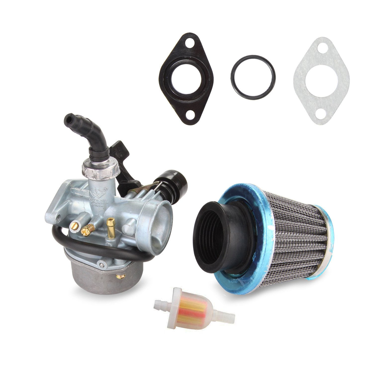 Amazon.com: ATV Carburetor PZ19 with Fuel Filter and 35mm Air Filter for  50cc 70cc 80cc 90cc 110cc 125cc ATV Dirt Pit Bike Taotao Honda CRF By  LIAMTU: ...