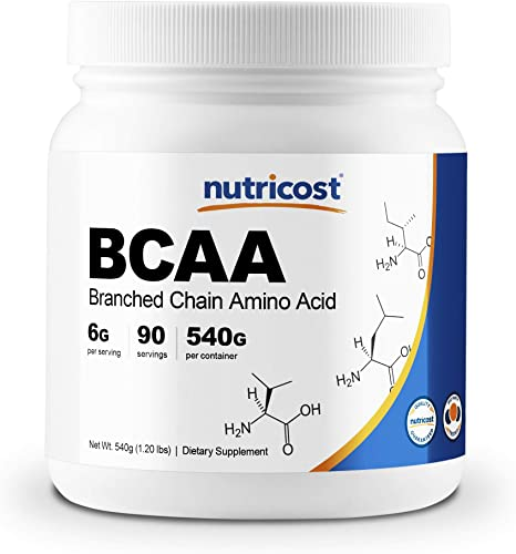 Nutricost BCAA Powder 2 1 1 Unflavored 90 Servings – High Quality Branched Chain Amino Acids