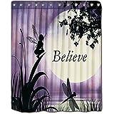 Shower Curtains Fairy Moon Light Polyester Curtain By YYT