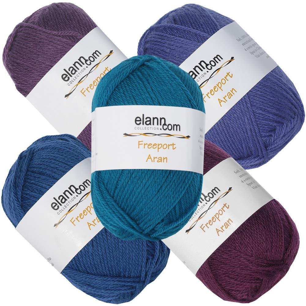 elann Freeport Aran Yarn | 5 Ball Bag | CP3 120, 122, 125, 126, 129