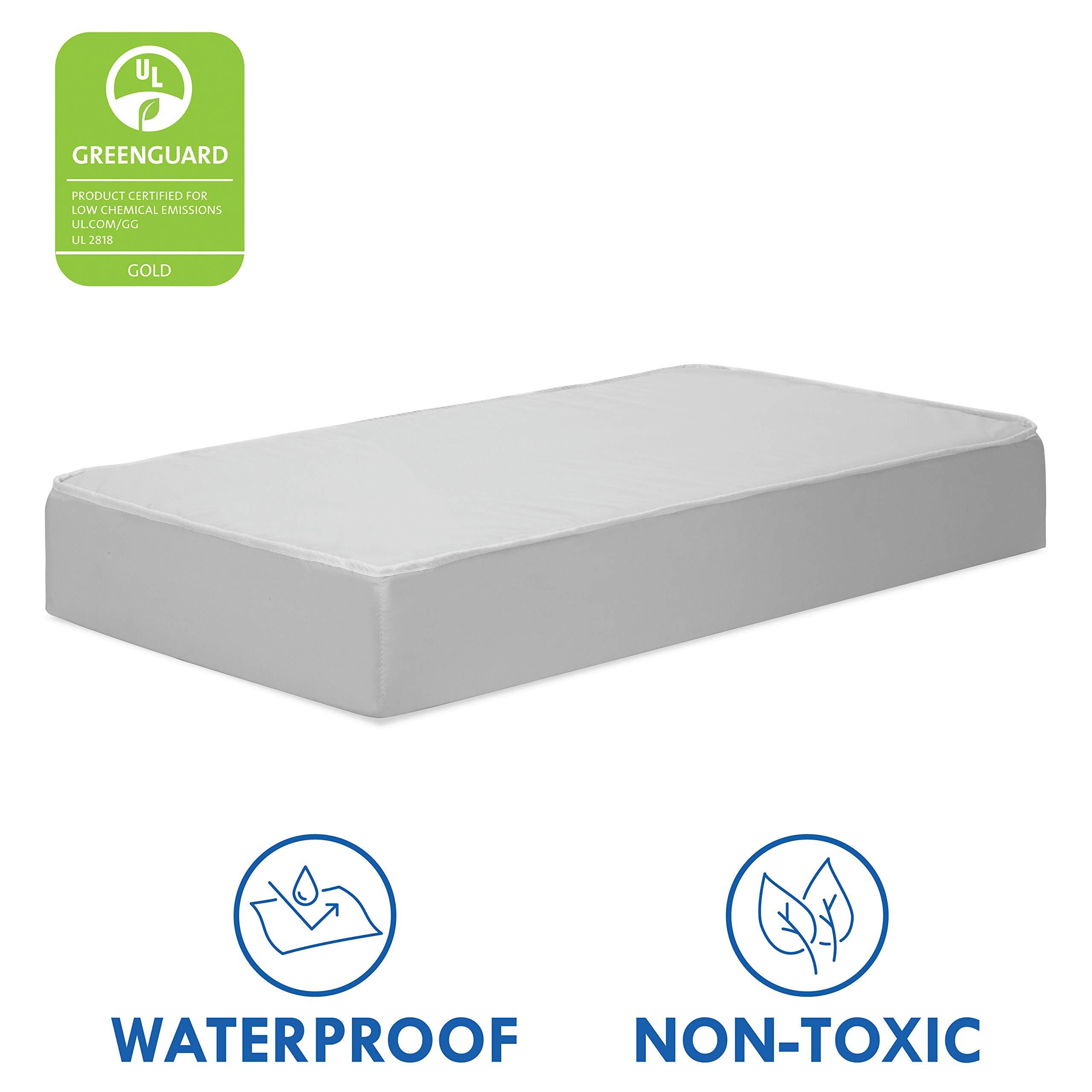 DaVinci Complete Slumber Waterproof MINI Crib Mattress | Firm Support | GREENGUARD Gold Certified | Lightweight | 100% Non-Toxic, White by DaVinci