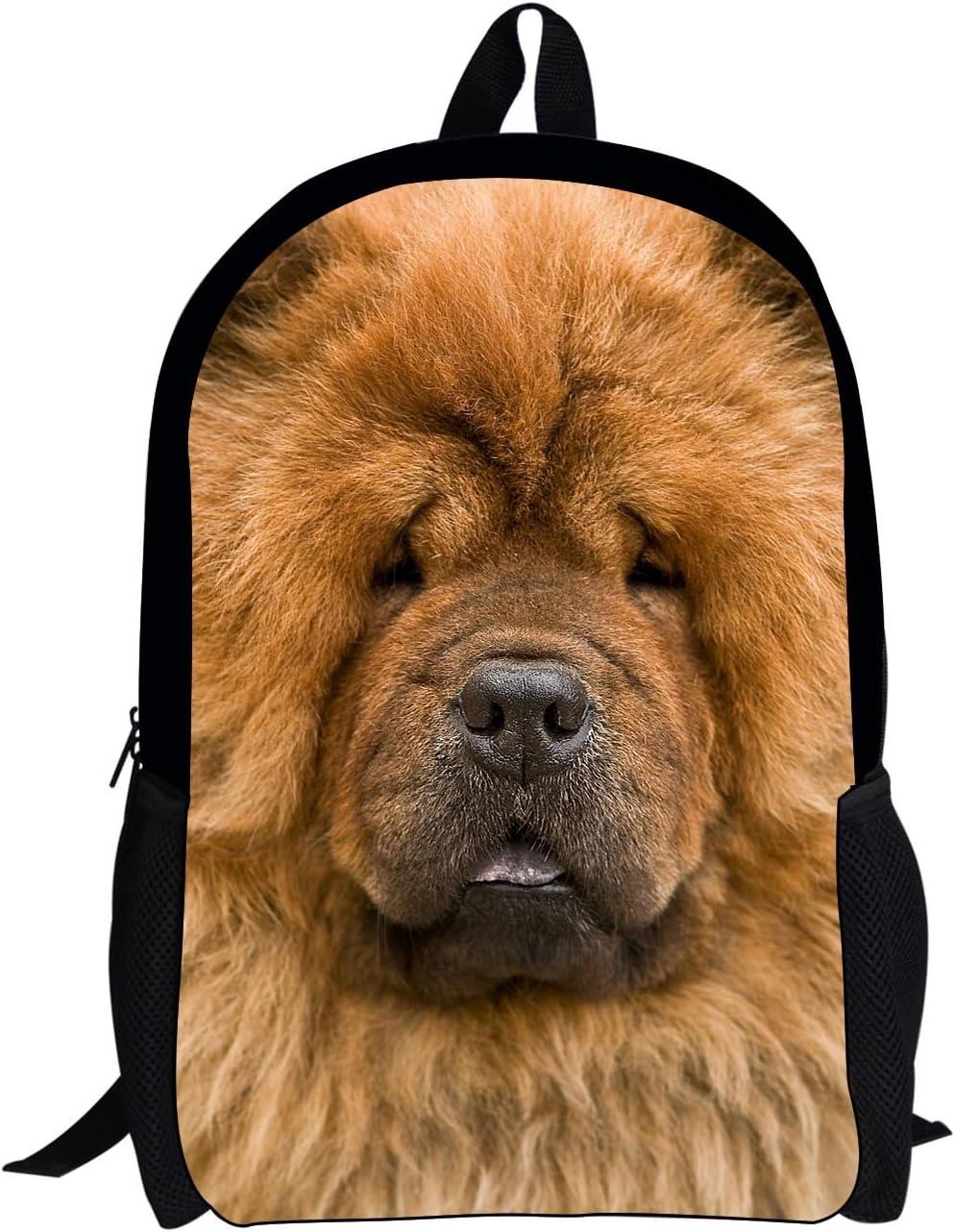 Horeset Backpack Lightweight 3D Cute Dog Print Laptop Bag Shoulder School Bags Daypack Travel Bookbags Laptop Bag for women girls boy men teen 1