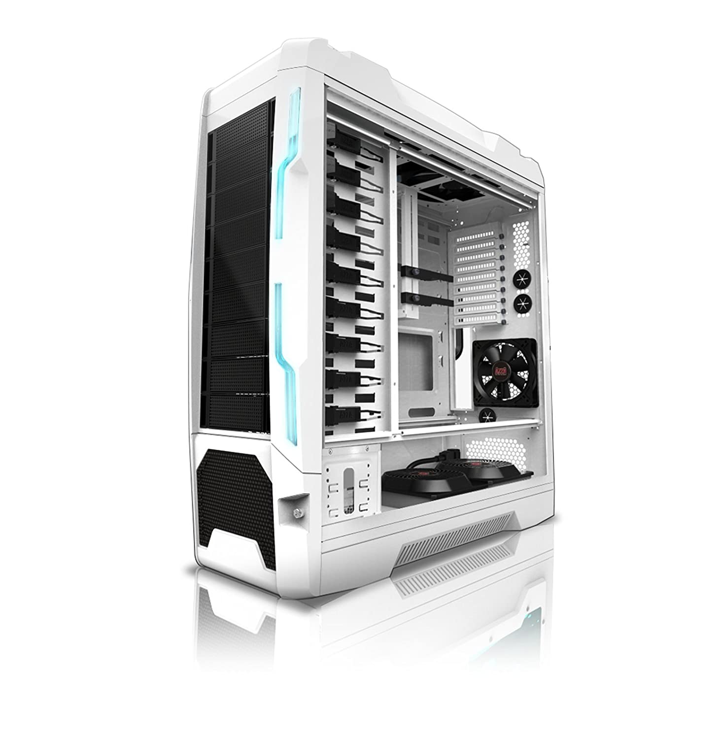 Amazon.com: Azza Genesis 9000W Full Tower Case, White (CSAZ-9000W): Computers & Accessories