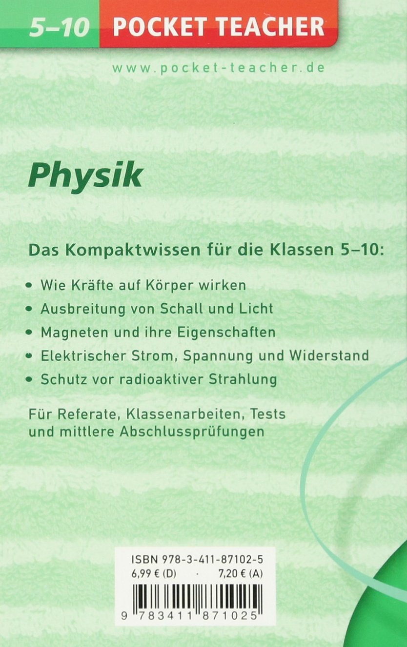 Physik: Kompaktwissen 5.-10. Klasse (Pocket Teacher) - Hans-Peter ...