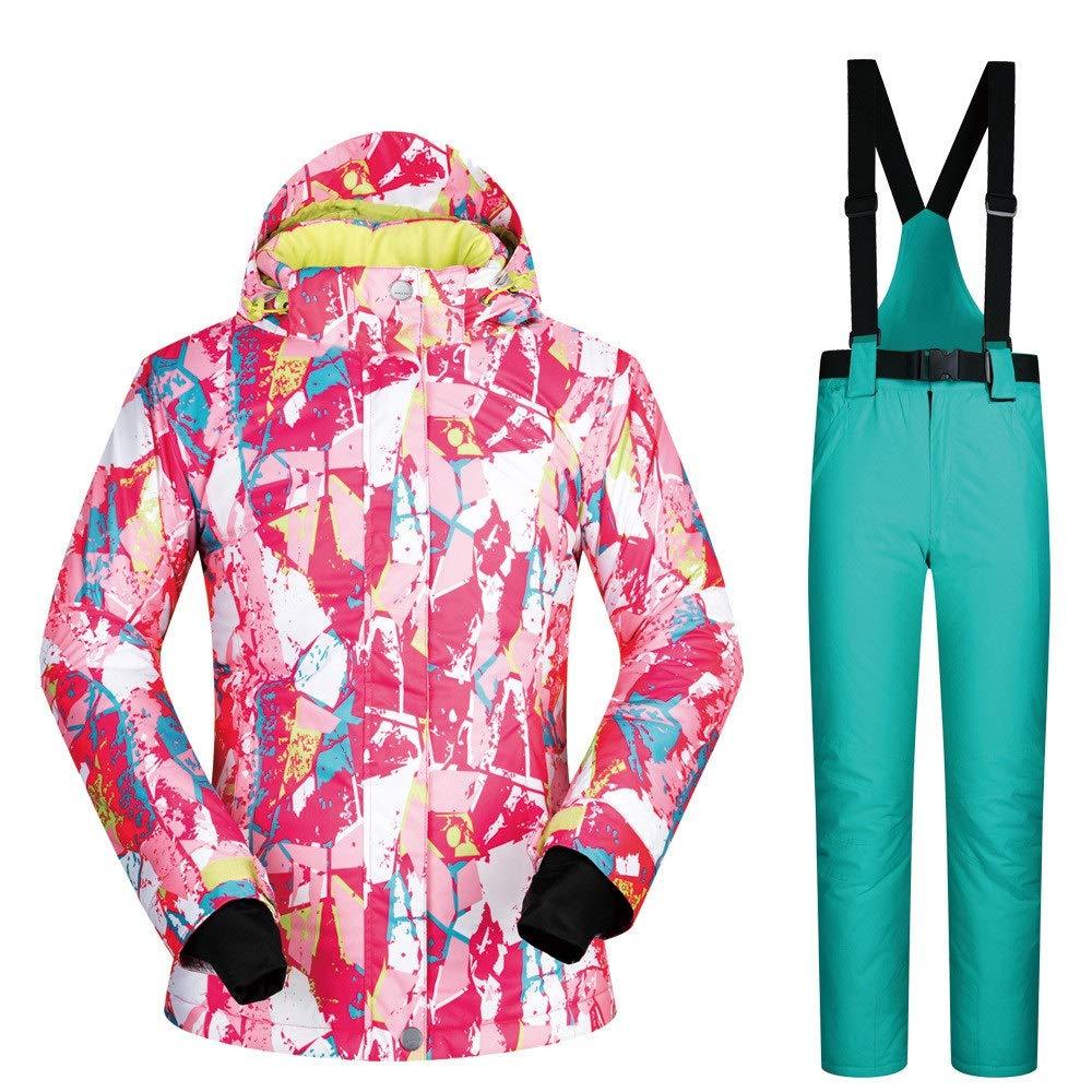 Dfghbn Dfghbn Dfghbn Giacca da Sci e Pantaloni Coloreeati da Donna Tuta da Sci da Donna Tuta da Sci Invernale Traspirante, Impermeabile e Traspirante Resistente all'Usura (Coloreee   Powder Pants, Dimensione   XL)B07L9MGFK8Medium Light verde Pants   Funzione speciale  18bf73