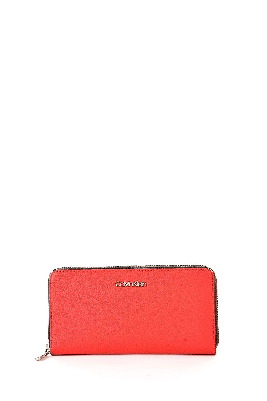 Calvin Klein Neat Large Zip Around Wallet Rouge: Amazon.es ...