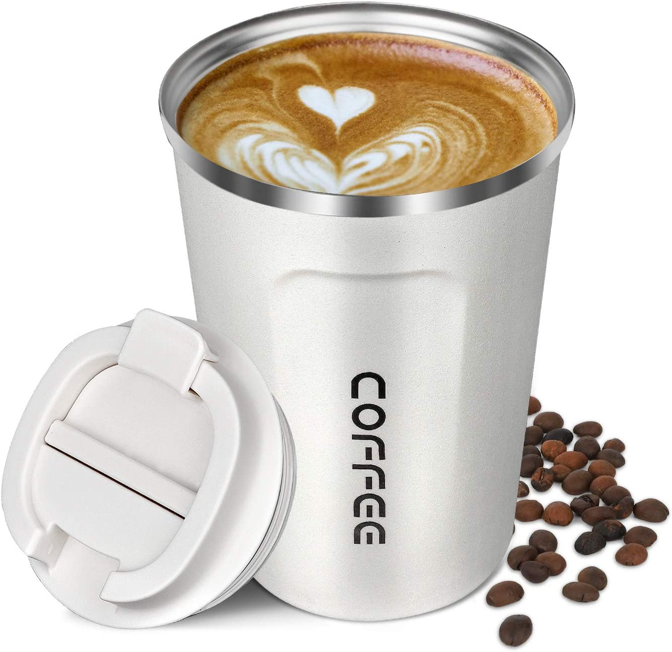 Brand New Reusable Stainless Fibre Coffee Cups Tea Coffee Travel Novelty Eco Cup