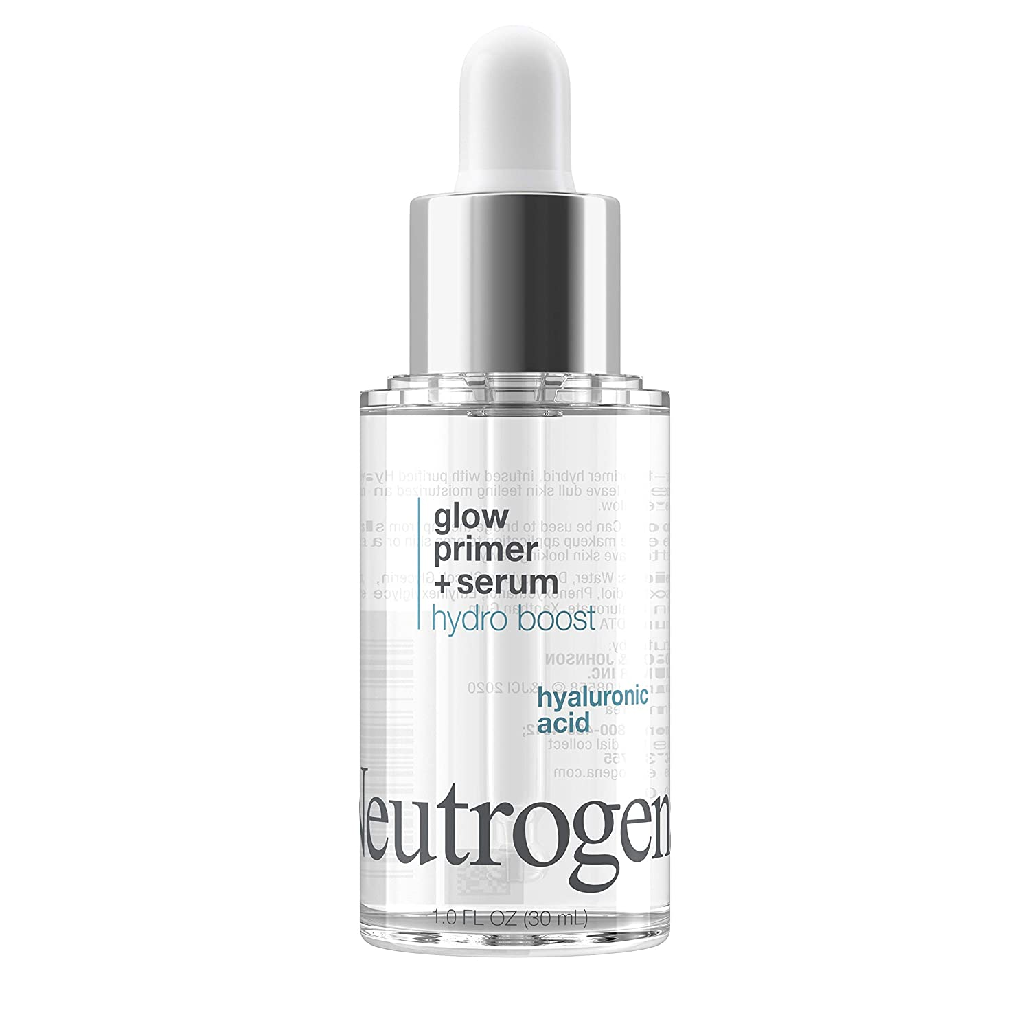 Neutrogena Hydro Boost Glow Booster Primer & Serum, Hydrating & Moisturizing Face Serum-to-Primer Hybrid, Infused with Purified Hyaluronic Acid & Designed to Instantly Hydrate, 1.0 fl. oz