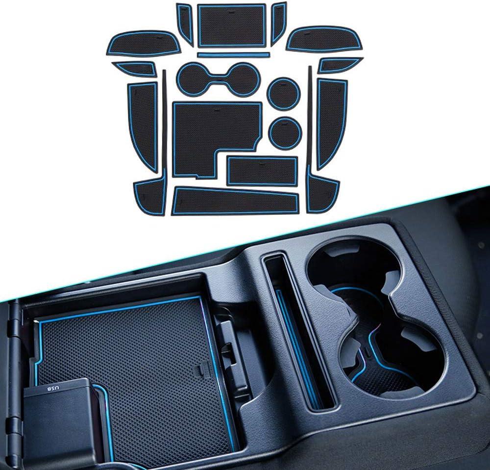 Muchkey Per 2017 2018 CX-5 CX5 Mat Cup Holder Antipolvere Antiscivolo Porta Per Interni Coppa Mats Supporto 18 pezzi per set Bianca