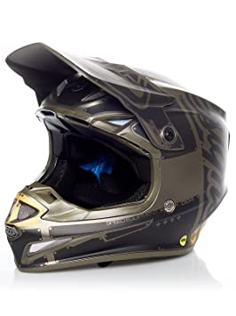 Casco Mx Troy Lee Designs 2018 Se4 Factory Polyacrylite Gris (L , Gris)