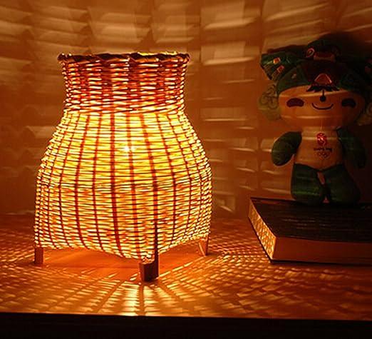 Handmade Craft Bamboo Art Bedside Living Room Light Table Lamp