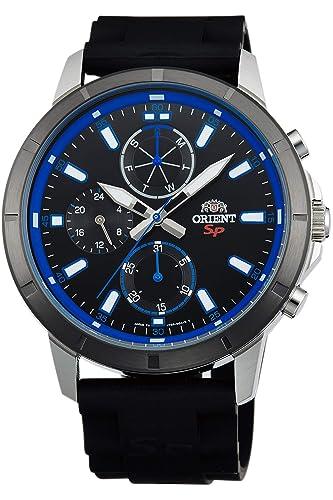 Orient Reloj Analógico para Hombre de Cuarzo con Correa en Caucho FUY03004B0: Amazon.es: Relojes