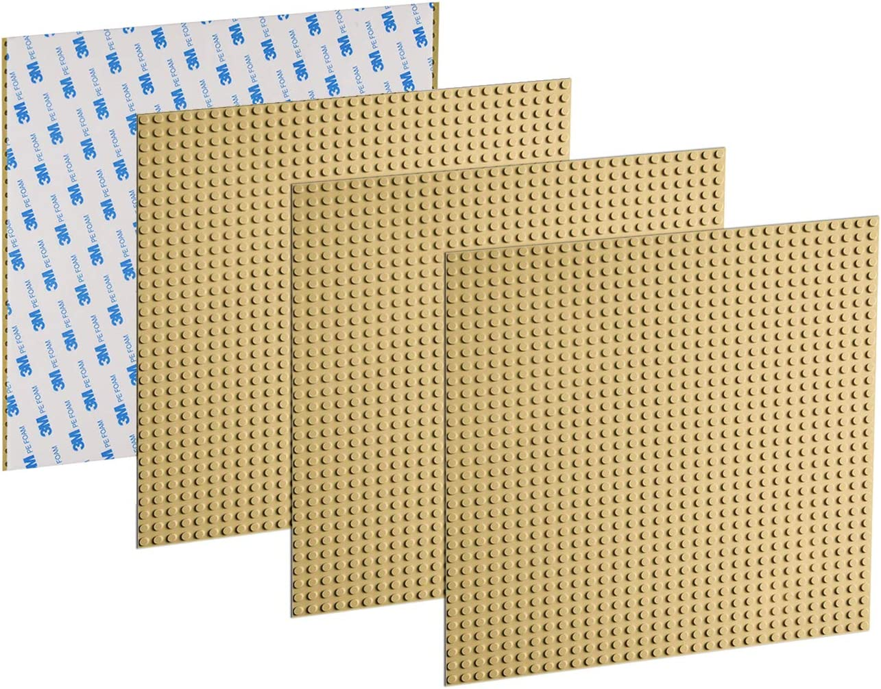 Green EKIND 6 PCS Self Adhesive Classic Building Brick Plate 10 x 10 Compatible with Building Brickyard Blocks All Major Brands