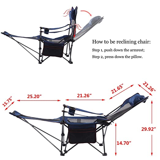 Amazon.com: Silla reclinable y de salón para camping ...