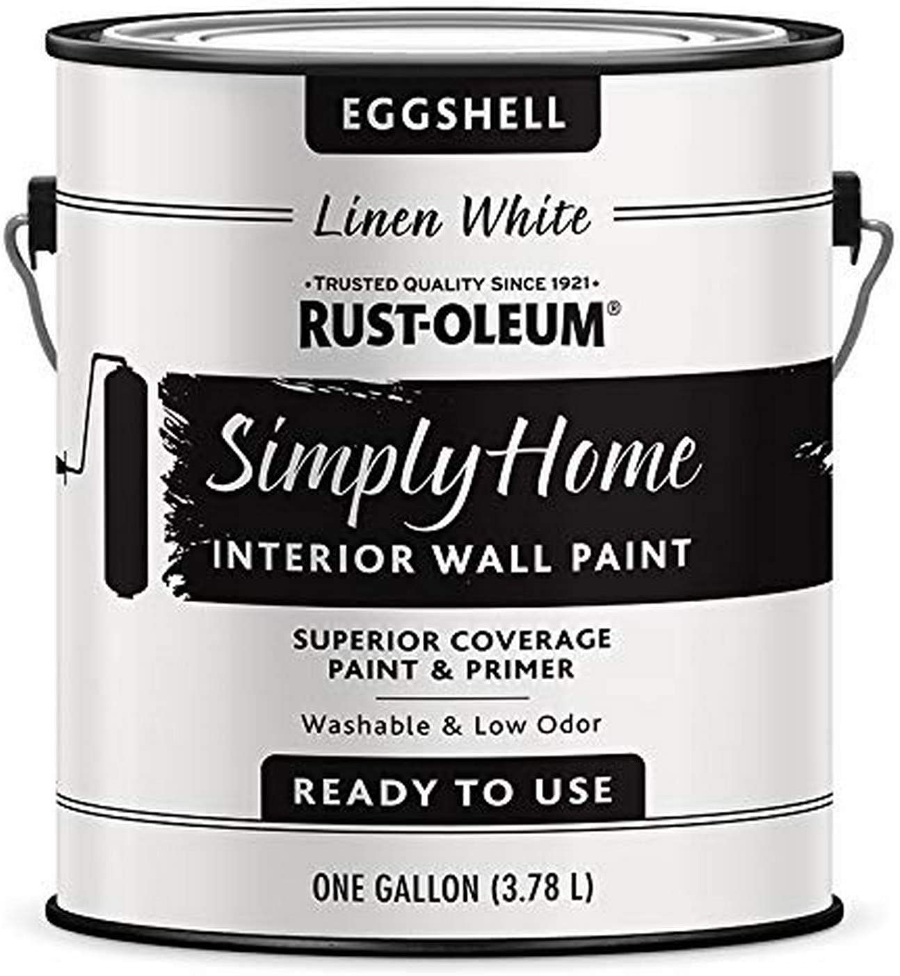 Rust-Oleum Simply Home Interior Wall Paint 343991 Simply Home Eggshell Interior Wall Paint, Linen White