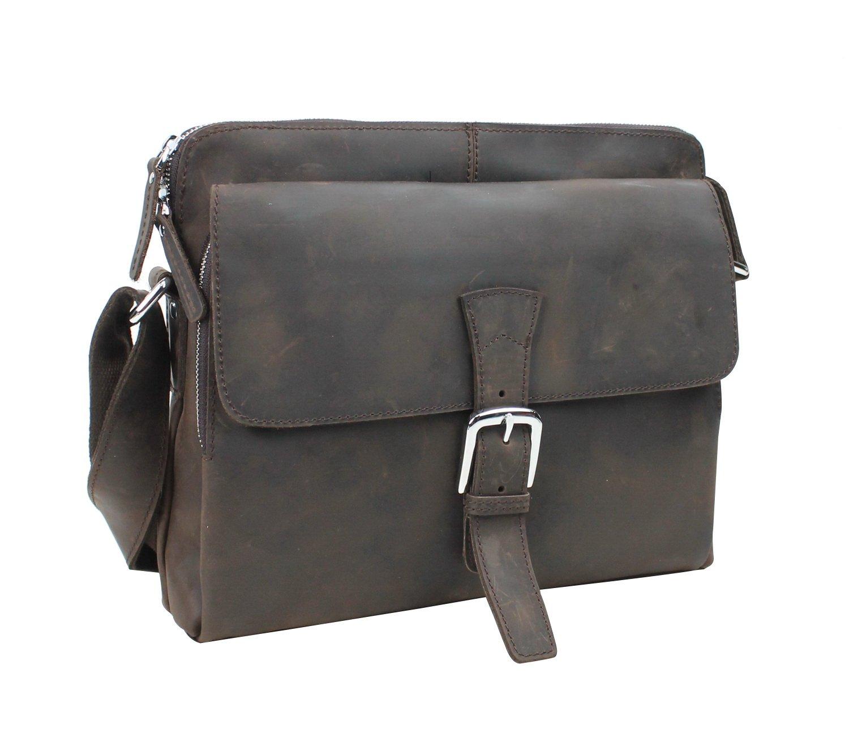 Vagabond Traveler 12'' Cowhide Leather Messenger Bag LM03.DS