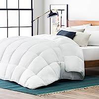 Lucid Cobertor de plumón Alternativo hipoalergénico para Todas Las Estaciones, 400 gsm, ultrasuave y Acogedor, 8 Lazos de cobertor, Puntada de Caja, Lavable a máquina