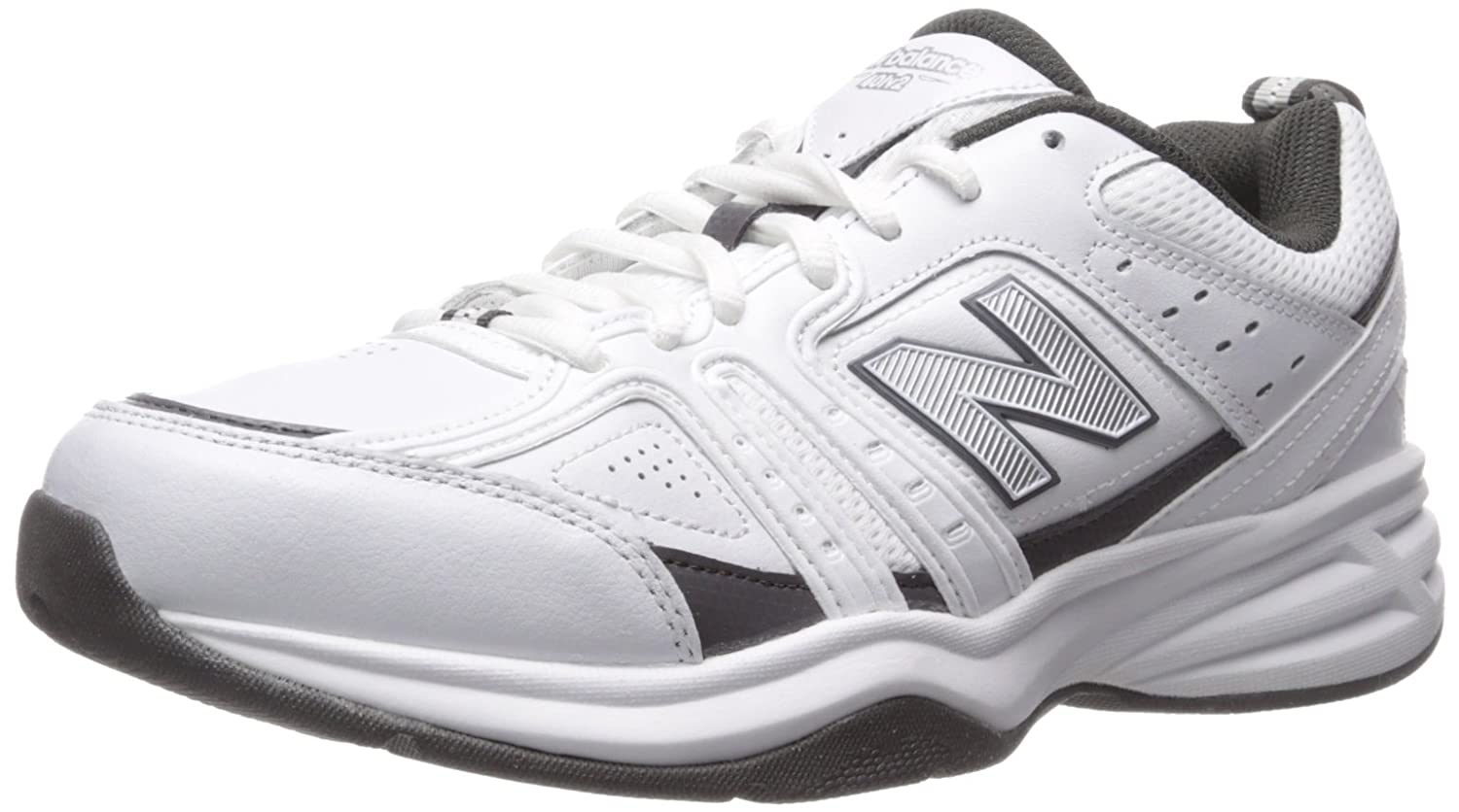 Amazoncom  New Balance Mens MX401V2 Training Shoe WhiteGrey 85 D US  Fitness  CrossTraining