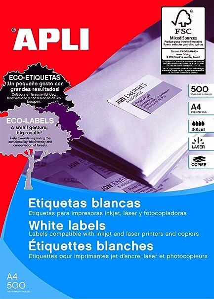 APLI 01783 etiqueta de impresora - Etiquetas de impresora ...