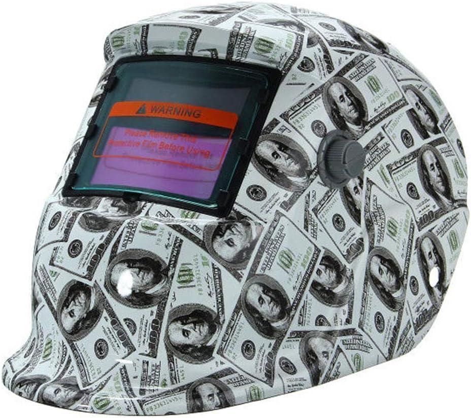 Máquina de Soldadura Máscara de Soldadura Tapa Protectora Gafas Protección Contra la Radiación Montaje en la Cabeza Energía Solar Atenuación Automática Argón Soldadura al Arco Tig Mig,banknote