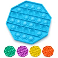 AnanBros Push Pop Bubble Fidget Sensory Toy, Pop Pop Fidget Toy Gifts for Boys and Girls, Stress Relief and Anti-Anxiety Tools for Kids and Adult(Blue Octagon)