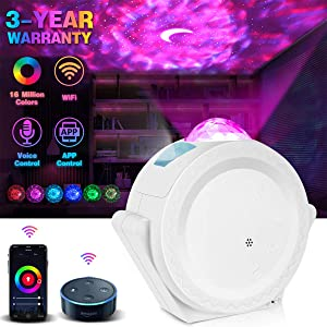 Smart Star Projector, Lacoco WIFI Star Night Light Galaxy Projector Works with Alexa Google Home,16M Color Starry Light Projector with APP Voice Control Night Sky Projector for Bedroom Adult Kids Gift