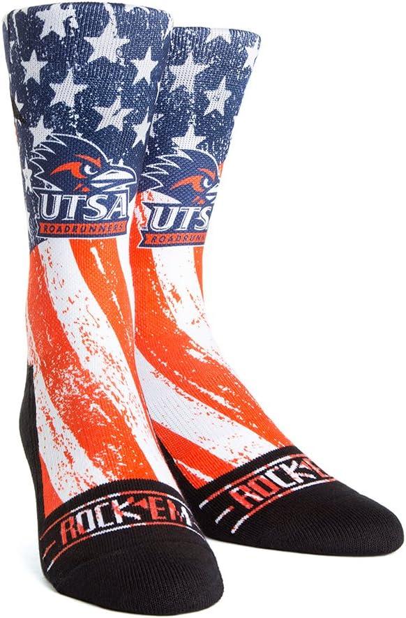 NCAA Texas San Antonio Roadrunners Custom Athletic Crew Socks
