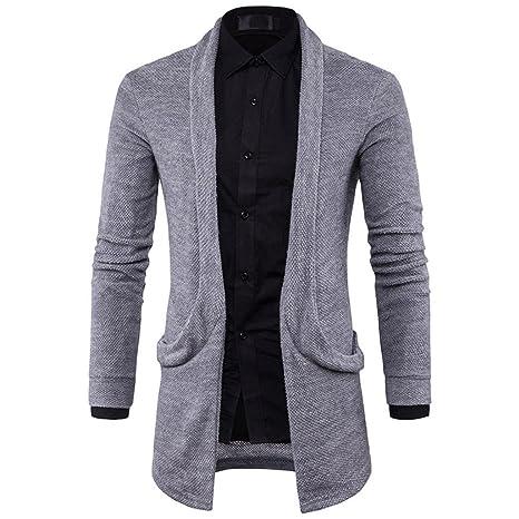 Abrigos de hombre Los hombres con capucha Cardigan suéter chaqueta de punto jersey otoño el estilo