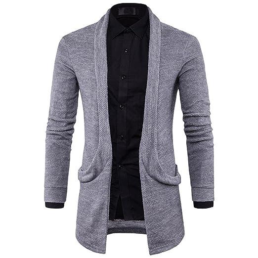 Abrigos de hombre Los hombres con capucha Cardigan suéter chaqueta de punto jersey otoño el estilo de invierno 2018 ,YanHoo® De manga larga de los hombres ...