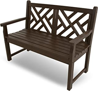 """product image for POLYWOOD CDB48MA Chippendale 48"""" Bench, Mahogany"""