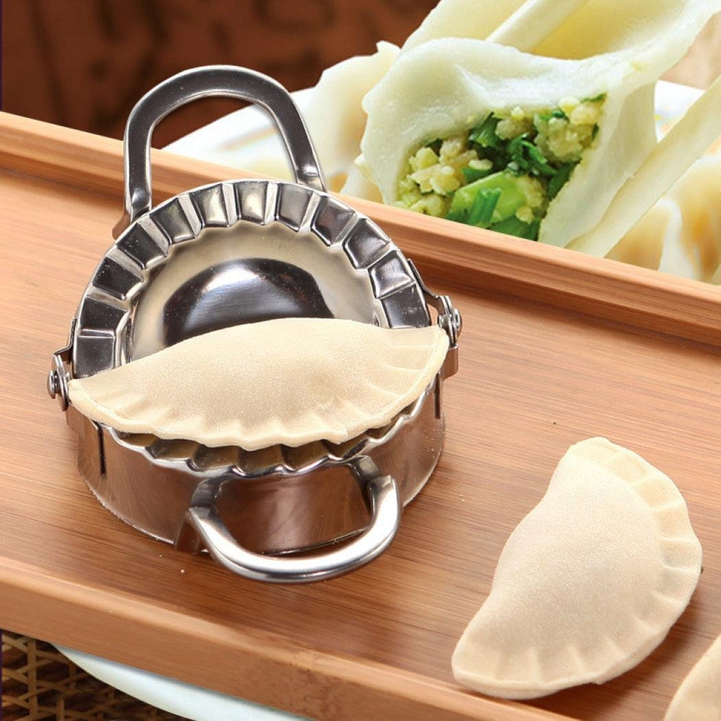Vovomay Eco-Friendly Pastry Tools, Stainless Steel Dumpling Maker Wraper Dough Cutter