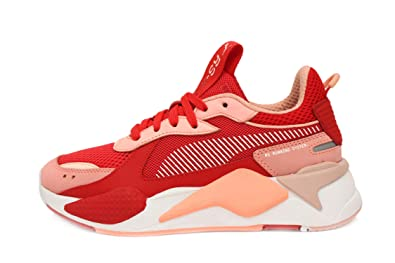 0ea2b042d4 PUMA RS-X Toys Womens in Bright Peach High Risk Red