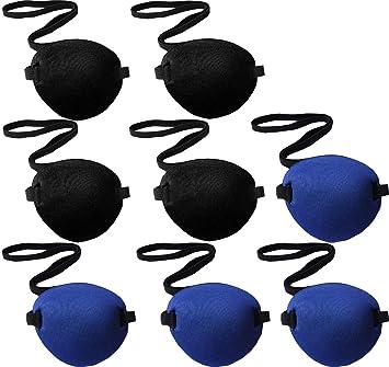 LIOOBO Cache-Oeil Cosplay Oeil Patch Oeil Pirate R/églable pour Enfant Adulte Amblyopie Strabisme Cosplay Noir