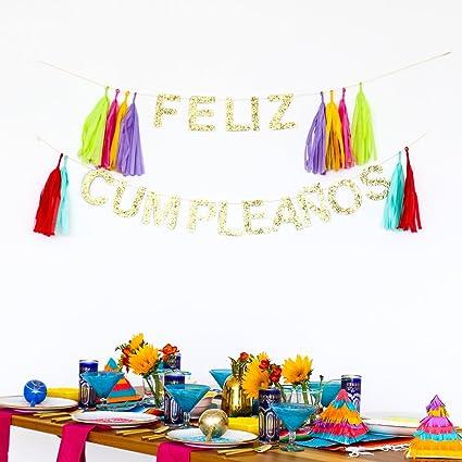 FELIZ CUMPLEAÑOS Celebration Banner by POSHAHOOLIE