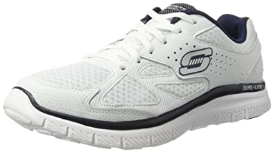 Skechers Flex Advantage Master Plan - Zapatillas, Hombre, Blanco (WNV), 41.5 EU(7.5 UK)