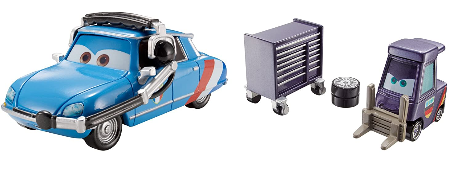 Disney/Pixar Cars Raoul's Pitty and Crew Chief Vehicle 2-Pack Mattel DHL14