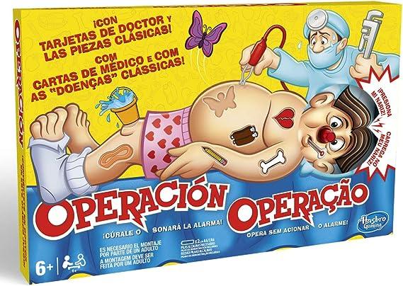 Hasbro Gaming B2176B09, Juego de Mesa Operación, Versión Española/Portuguesa: Amazon.es: Juguetes y juegos