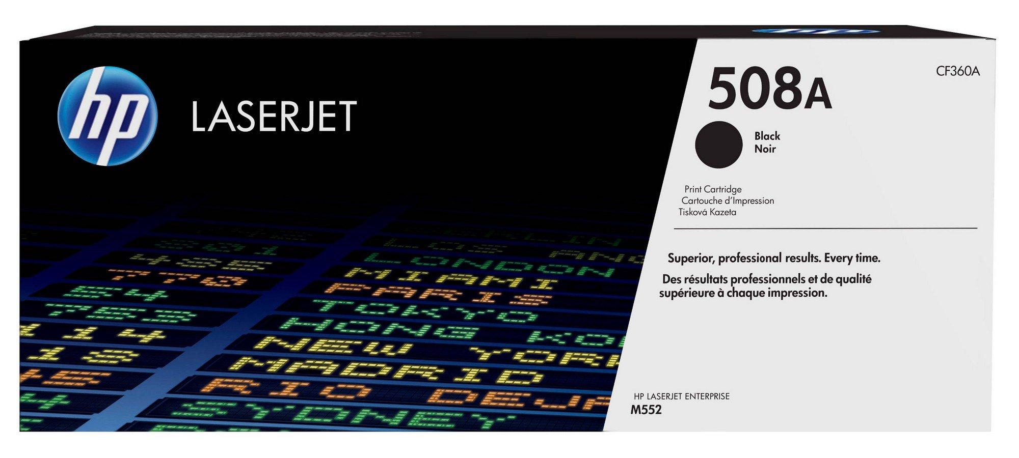 HP 508A (CF360A) Black Original Toner Cartridge by HP