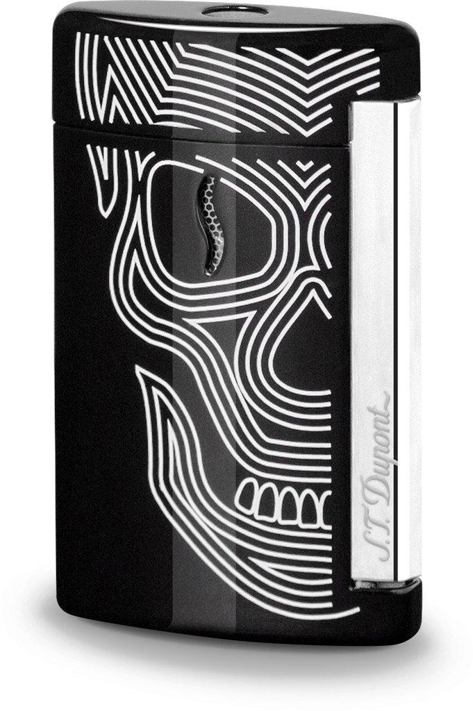 S.T. Dupont Minijet 2 Black Skull Jet Lighter / 010511