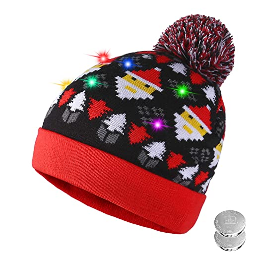 cabb1fd9c39 TAGVO LED Light Up Hat Beanie Knit Cap