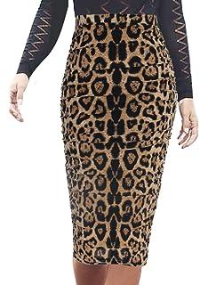 9f2c9a1ab2 VFSHOW Womens Elegant Ruched Ruffle High Waist Pencil Midi Mid-Calf Skirt