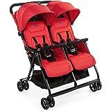 Chicco Echo Twin  Silla de paseo gemelar ligera y compacta color rojo