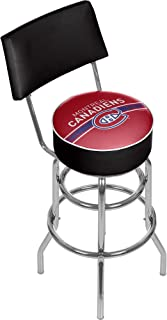 Trademark Gameroom NHL Swivel Bar Stool with Back-Montreal Canadiens