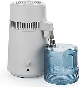 SmarketBuy 1.05 Gallon Water Distiller Home Countertop Water Distillation Purifier All Stainless Steel Internal Water Distillation Kit 110V