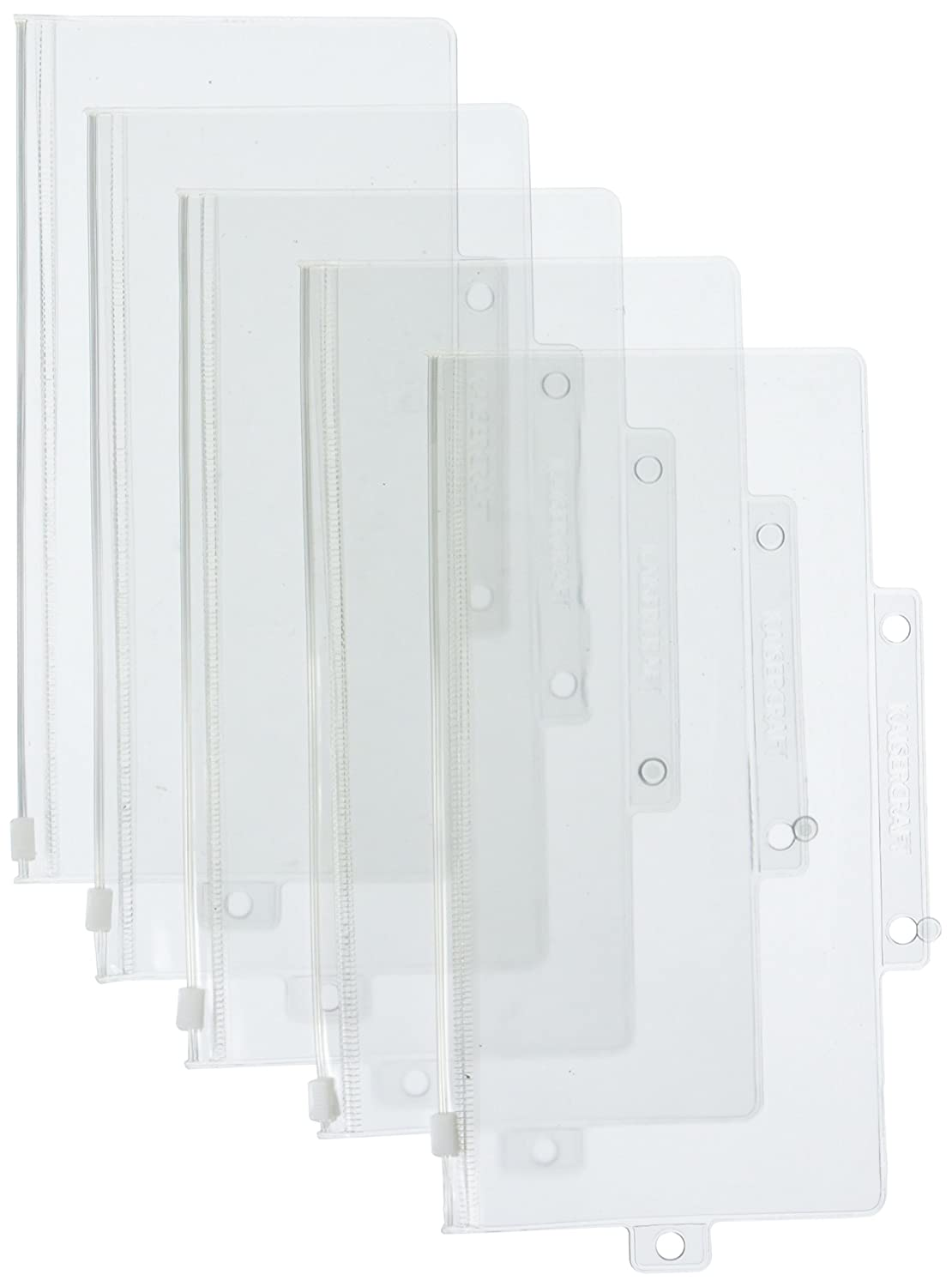 Kaisercraft-Pack and Store Storage Pockets DL, 8-1/4-Inch by 4-Inch, 5-Pack Notions - In Network FD301