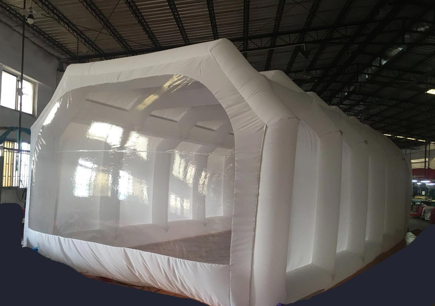 Inflatable Spray Booth Custom Tent Car Paint Booth Inflatable Car (White) ((26x13x10Ft)) by LIVIQILY (Image #3)