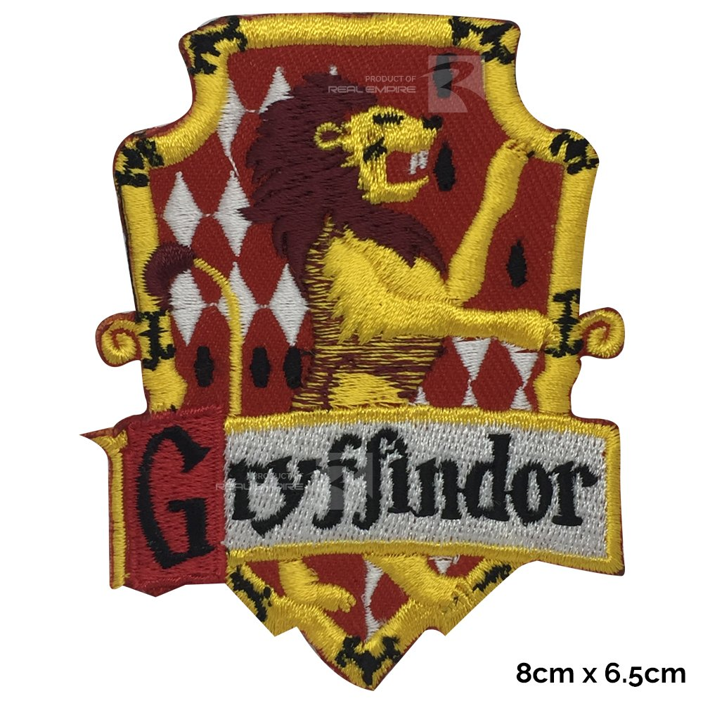 REAL EMPIRE Harry Potter Gryffindor House New Sew or Iron on Patch Fancy Dress Costume T Shirt Bag Jacket Badge (3001)