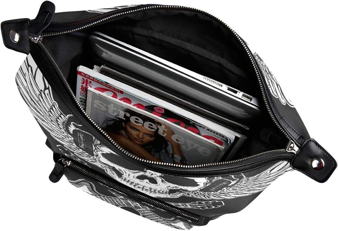 Backpack Rucksack Travel Daypack Music Skull Wing Book Bag Casual Travel Waterproof